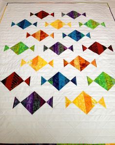 Ready for Easter? Or maybe the perfect Mother's Day qift.  Modern Art Quilt   Sweet Tooth  Spring Lap Quilt by SallyManke