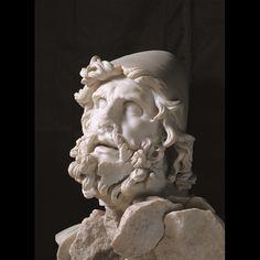 Testa di Ulisse, forse appartenente al gruppo dell'accecamento di Polifemo, marmo. Sperlonga, Museo Archeologico Nazionale