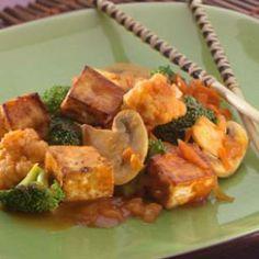 Tofu & Veggies with Maple Barbecue Sauce