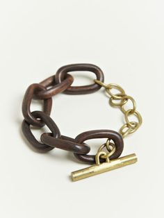 Four Women's Small Seamless Rosewood Link Bracelet