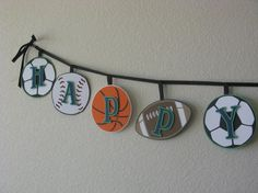 Sports Theme Birthday Banner  All Sports by PartyPiper on Etsy, $20.00