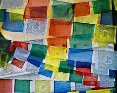 Beautiful prayer flags - they're said to mimic the sounds of horses galloping when they flap in the breeze.  :)