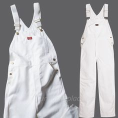 Details about Dickies Bib Overalls Mens Painters bib Overalls 8953 White Cotton Size Senior Overalls, Bib Overalls, Dungarees, Painters Overalls, White Overalls, Cute Jeans, Indigo Blue, Fashion Photo, Casual Wear