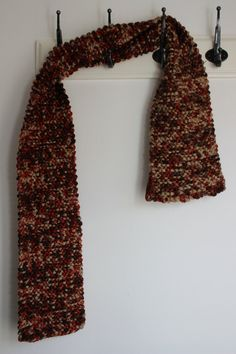 Knitted Scarf chunky scraf unisex scarf mens by ChickFromLeeds