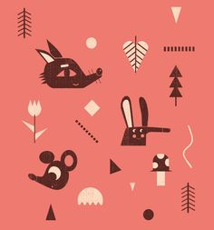 some pattern for textiles on Behance