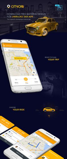 Download free Uber like #taxiapp UI PSD upto #Christmas Designed by Peerbits https://www.behance.net/gallery/46549083/Download-free-Uber-like-taxi-app-UI-PSD-upto-Christmas
