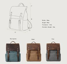 Backpack/canvas bag by Commandery in China.
