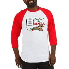 cookies and milk christmas humor baseball tee