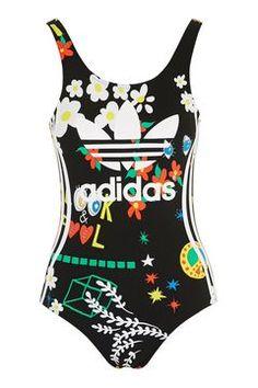 b8fb1fd6ed77e Floral Swimsuit by Adidas Originals Natacion Niños, Maxi Blusa, Agua De  Coco, Blusas