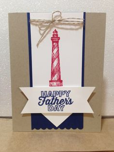 I created this Father's Day card using the Stampin' Up! From Land to Sea stamp set.  This card could easily be made into a Birthday card as well.  stampitwithdebbie.stampinup.net