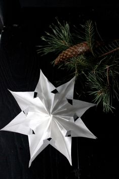 DIY – Hvězdy z papírových sáčku