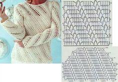 Heel veel haakpatronen op een rijtje. Crochet Jacket, Knit Crochet, Crochet Clothes, Leg Warmers, Crochet Projects, Pullover, Stitch, Knitting, Tejidos