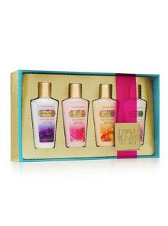Victoria Secret Lotion 4 Piece Gift Set Such a Flirt, Amber Romance, Love Spell & Pure Seduction for only $19.99
