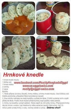Czech Recipes, Appetisers, Gnocchi, Dumplings, Appetizer Recipes, Food And Drink, Cooking Recipes, Chicken, Breakfast