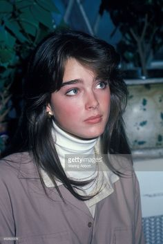 Actress and model Brooke Shields at the studio of fashion photographer Francesco Scavullo on October 15, 1981 in New York City.