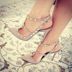 How about this shoe?  Share to get a coupon for all on FSJ Women's Nude with Rivets Slingback Pumps T-Strap Stiletto Heels Shoes