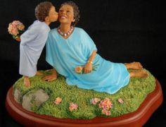 """Thomas Blackshear's Ebony Visions """"Planting a Kiss"""" Figurine NIB"""