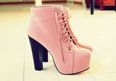 I found Pretty Pink Lace-up Heels on Wish, check it out!