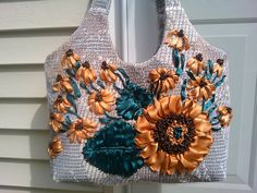 Diaper bag/ Messenger bag/Canvas tote/shoulder bag/ Fabric purse/floral tote bag/Hobo Bags/yellow sunflower by beautifullbags on Etsy