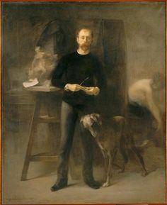 Eugène Carrière, Louis-Henri Devillez dans son atelier