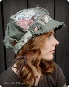 Fall Newsboy Hat ❤ by GreenTrunkDesigns on Etsy Funky Hats, Crazy Hats, Cool Hats, Make Your Own Hat, Stylish Hats, News Boy Hat, Outfits With Hats, Derby Hats, Summer Hats
