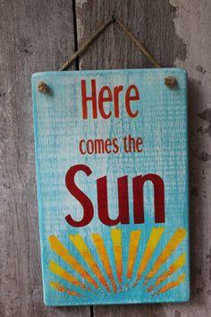 Here Comes The Sun Wood Sign Punk Rock Sunburst Hippie Decor Boho Decor Dorm Decor Gypsy Decor Beach Decor Outdoor Decor Hanging Sign Stylish Bedroom, Modern Bedroom, Minimalist Bedroom, Black Bedrooms, Gothic Bedroom, Beach Signs, Hanging Signs, Beach House Decor, Hippie House Decor