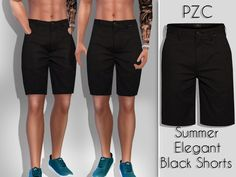 sims 4 cc // custom content male guy clothing // the sims resource // // Pinkzombiecupcakes' Summer Elegant Black Shorts For Him The Sims 4 Pc, Sims Four, Sims 4 Cas, Sims Cc, Sims 4 Men Clothing, Sims 4 Male Clothes, Clothing Sets, Male Clothing, Men Clothes