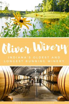 Enjoy a glass and wander the grounds of Indiana's oldest and longest running winery, Oliver's! | #Bloomington #Indiana #USA