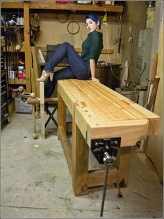 Workbench Plans Workbench plans The best source for woodworking workbench plans Workshop Customize these workbench plans to fit any size workshop Woodworking Bench Plans, Woodworking Equipment, Woodworking Crafts, Router Woodworking, Wood Plans, Workbench Designs, Workbench Plans, Craftsman Workbench, Workbench Stool