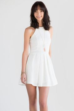 Ava Bow Back Dress. White bow back dress, great summer/spring look!