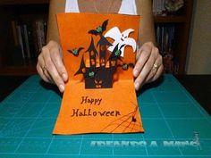 Como hacer una tarjeta desplegable para Halloween