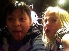 Making weird faces