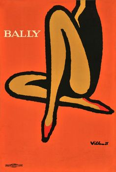 Affiches Anciennes : bally orange very big size print VILLEMOT Bernard Bronze Art, Vintage Posters, Disney Characters, Fictional Characters, Orange, Big, Prints, Poster Vintage, Disney Face Characters