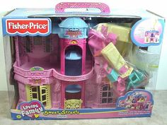 Fisher Price Sweet Streets Hotel Dollhouse With Accessories & Original Box