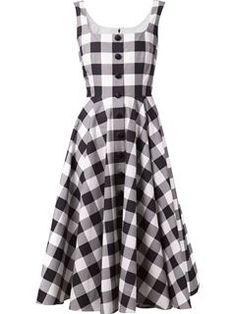 Dolce & Gabbana Vestido Evasê Xadrez - Helmè - Farfetch.com