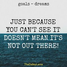 Many of the best goals and dreams aren't readily visible in the beginning. #goals #dreams #entrepreneur
