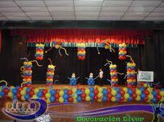 Resultado de imagen para decoracion de escenarios para graduaciones