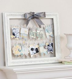 Framed Photo Clothesline