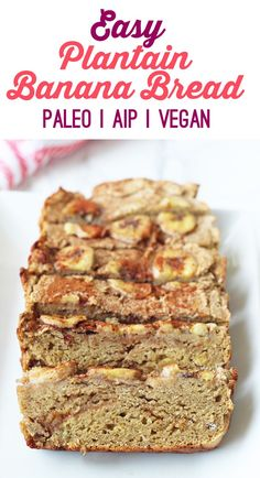Easy Banana Bread (Paleo, AIP, Vegan)