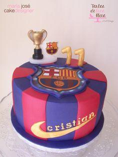 Tarta F.C. Barcelona cake www.tartasdelunallena.blogspot.com maria jose cake designer