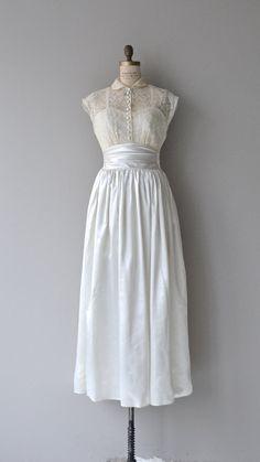 Sunlanna wedding gown vintage 1940s wedding dress by DearGolden
