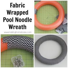 Homemade Halloween Decorations are the BEST: Halloween Wreath using a pool noodle