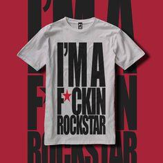 Camiseta Fuckin Rockstar| MUCHAJARANA