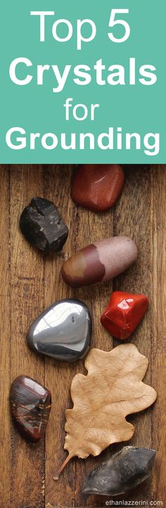 Here are my top 5 crystals for grounding. These grounding crystals and stones will help you stay connected to the Earth, your body and become more present. Learn how to use them with the powerful Tree of Life Grounding Meditation. #earthing #crystals