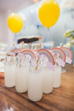 Cute Birthday Ideas, 2nd Birthday Party Themes, Rainbow Birthday Party, Baby Girl Birthday, Birthday Pictures, Rainbow Party Decorations, Birthday Party Decorations, Kids Picnic Parties, Baby Shower