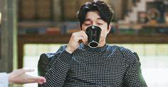 Just like the way he drinks coffee :3