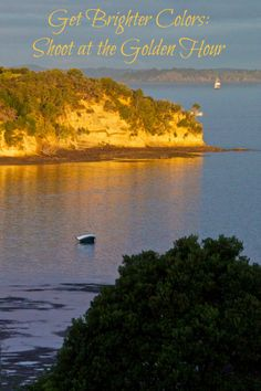 Golden hour on Okoromai Bay, Shakespear Park, Auckland New Zealand. It's my favorite time of day to capture travel photos.