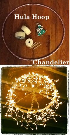 A humble hula hoop reborn as a chandelier, brilliant! Have a nosey at 7 more ideas to DIY your wedding (well).