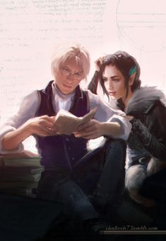 "shalizeh7: "" Sketching up Percy and Vex again, because @khirsahle has updated…"
