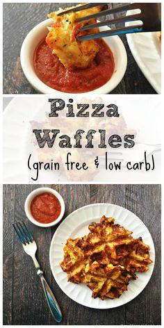 Savory Pizza Waffles - Grain Free, Low Carb Paleo Treats!